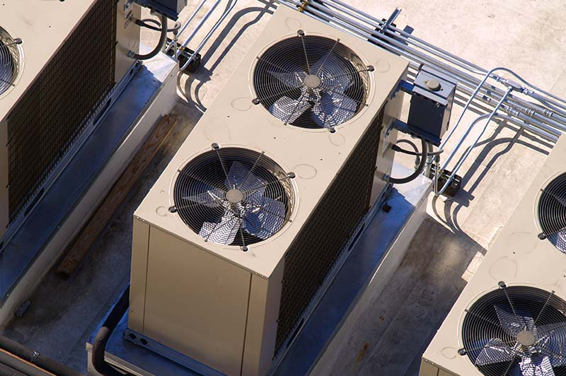 A high rise air conditioner assembly